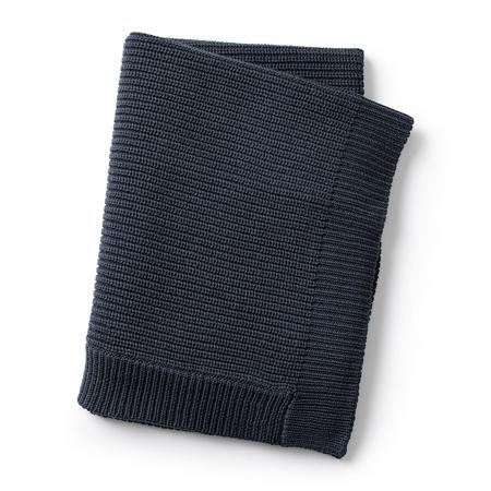 Slika Elodie Details® Pletena volnena odejica Juniper Blue 70x100