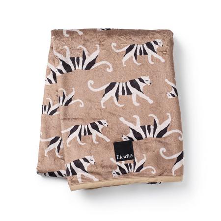 Slika Elodie Details® Žametna odejica White Tiger Warm Sand 75x100