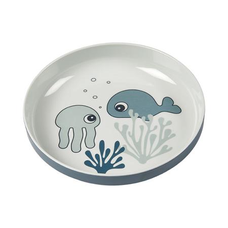 Done by Deer® Yummy mini krožnik Sea friends Blue
