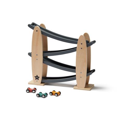Slika Kids Concept® Proga za avtomobilčke Natural/Grey Aiden