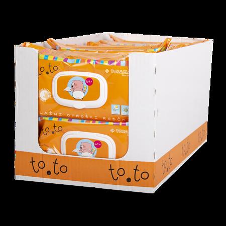 Slika Tosama®  Vlažni otroški robčki z zapiralom to.to Sensitive 4x64 kos