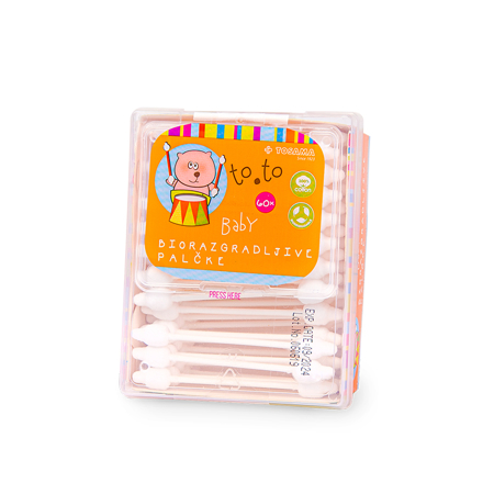 Slika Tosama®  Vatirane palčke biorazgradljive otroške to.to 60 kos