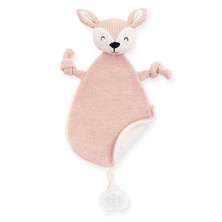 Slika Jollein® Ninica in priponka za dudo Deer Pale Pink