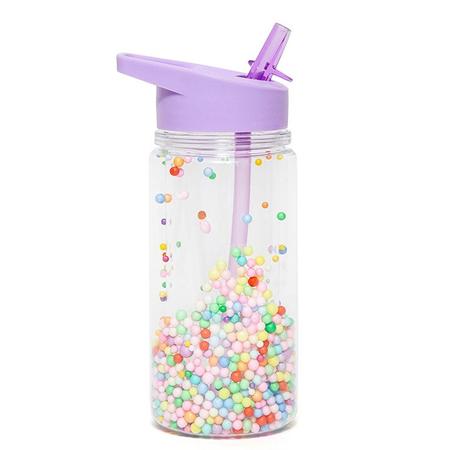 Slika Petit Monkey® Steklenička s slamico Marcaron Pops Lilac
