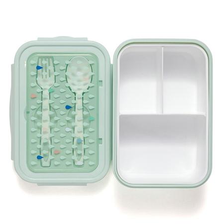 Petit Monkey® Škatla za malico s priborom Green