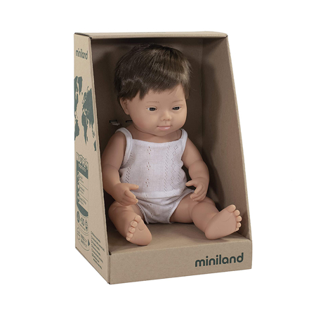 Miniland® Dojenček Brown Hair Boy 38cm