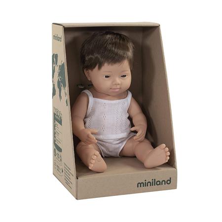 Miniland® Dojenček Down Syndrome European Boy 38cm