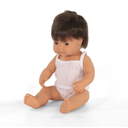 Slika Miniland® Dojenček Brown Hair Boy 38cm