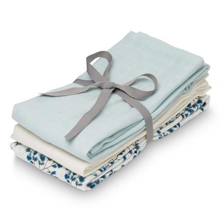 CamCam® Povijalne pleničke Mix Fiori, Light Blue, Creme White 70x70 3 kosi