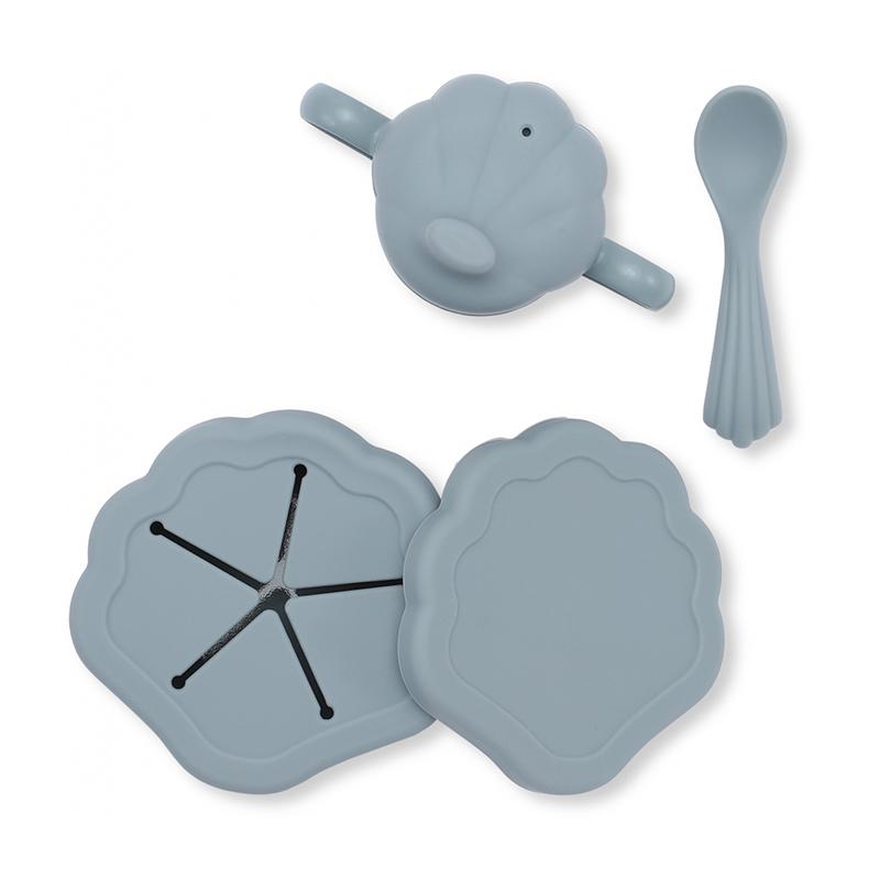 Konges Sløjd® Silikonski set za hranjenje Light Blue