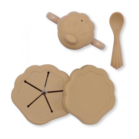 Slika Konges Sløjd® Silikonski set za hranjenje Shell