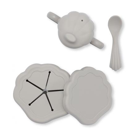 Slika Konges Sløjd® Silikonski set za hranjenje Warm Grey