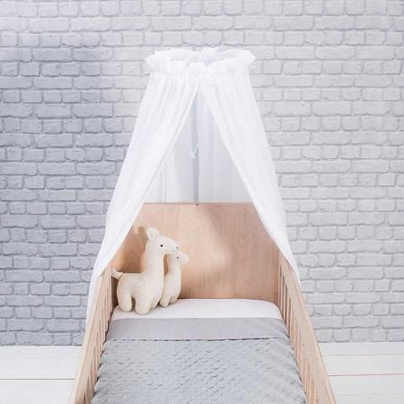 Jollein® Stojalo za posteljni baldahin okrogel Black