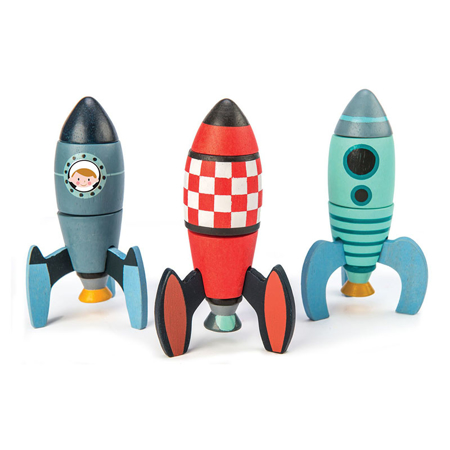 Slika Tender Leaf Toys® Rakete Rocket Construction