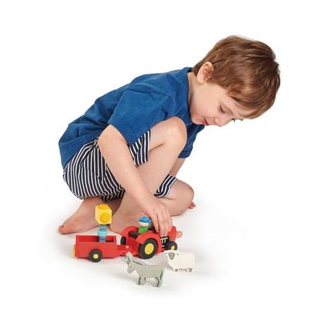 Tender Leaf Toys® Traktor s prikolico