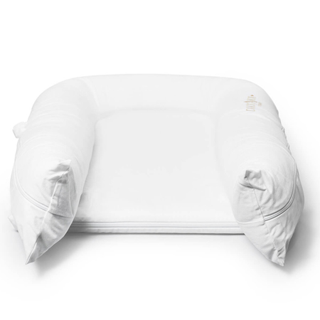 DockAtot® Večnamensko gnezdece Grand Pristine White (9-36m)