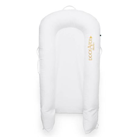 DockAtot® Večnamensko gnezdece Deluxe+ Pristine White (0-8m)