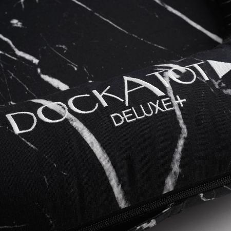 DockAtot® Večnamensko gnezdece Deluxe+ Black Marble (0-8m)