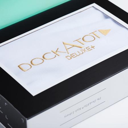 Slika DockAtot® Bombažna prevleka za gnezdece Deluxe+ Pristine White (0-8 m)