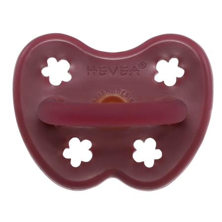 Hevea® Ortodontska duda iz kavčuka Colourful (3-36m) Ruby