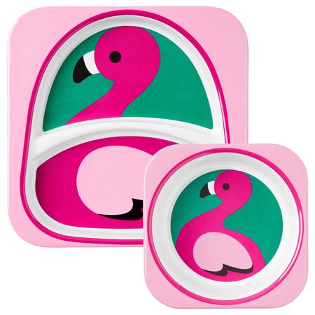 Slika Skip Hop® Jedilni set Flamingo