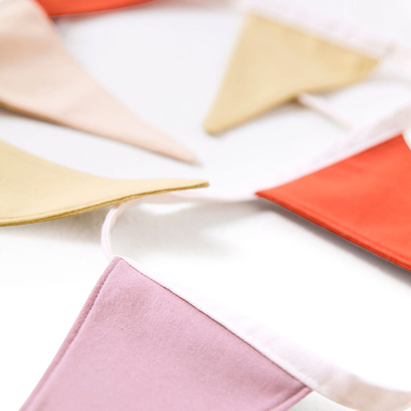 Kids Concept® Dekoracijske zastavice Bunting Purple/Red