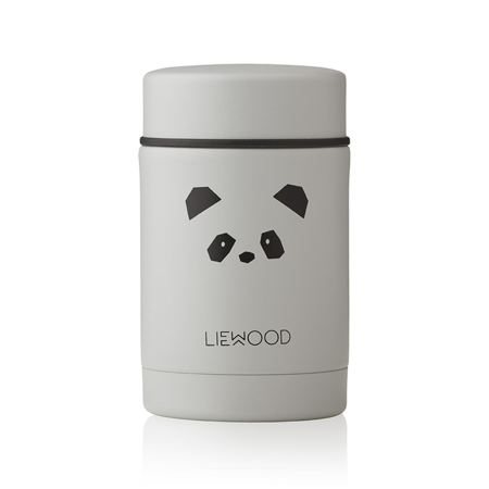 Slika Liewood® Termo posodica Nadja Panda Light Grey 250ml