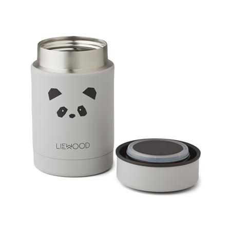 Liewood® Termo posodica Nadja Panda Light Grey 250ml