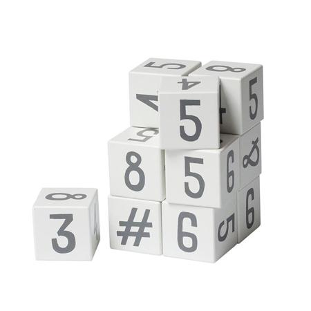 Slika Sebra® Lesene kocke s številkami White/Classic Grey