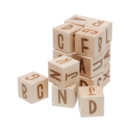 Slika Sebra® Lesene kocke s črkami Wood