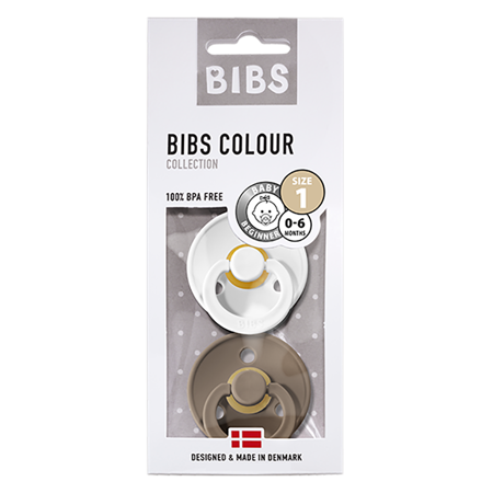 Bibs® Duda White & Dark Oak 1 (0-6m)