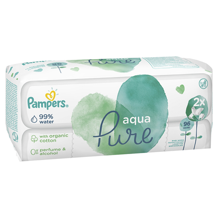 Slika Pampers® Otroški vlažilni robčki Pampers Aqua Pure 2x48 kosov