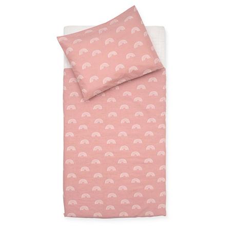 Jollein® Otroška posteljnina Rainbow Blush Pink 140x100