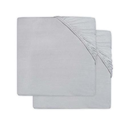 Slika Jollein® Bombažna rjuha Soft Grey 2 kosa 120x60