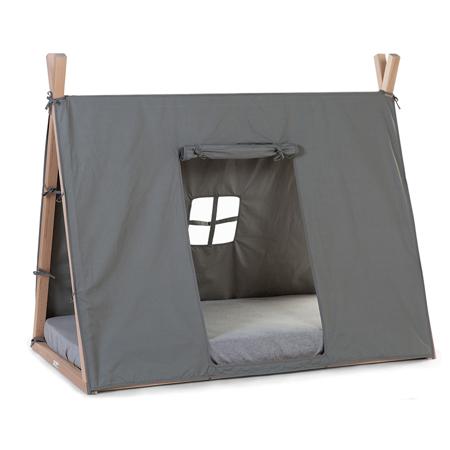 Slika Childhome® Prevleka za posteljni okvir Grey 140x70