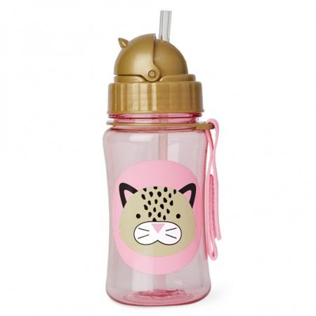 Skip Hop® Steklenička s slamico Leopard
