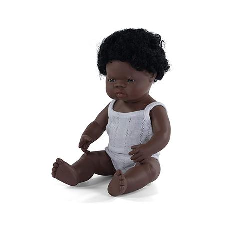 Slika Miniland® Dojenček African Boy 38cm