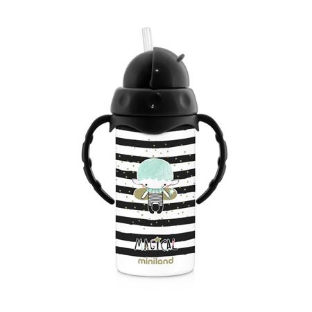 Slika Miniland® Termo steklenička s slamico Magical 240ml