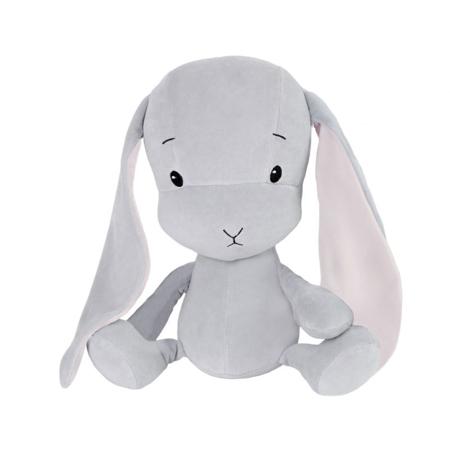 Slika Effiki® Zajček S 20 cm - Siva - Roza uhlji