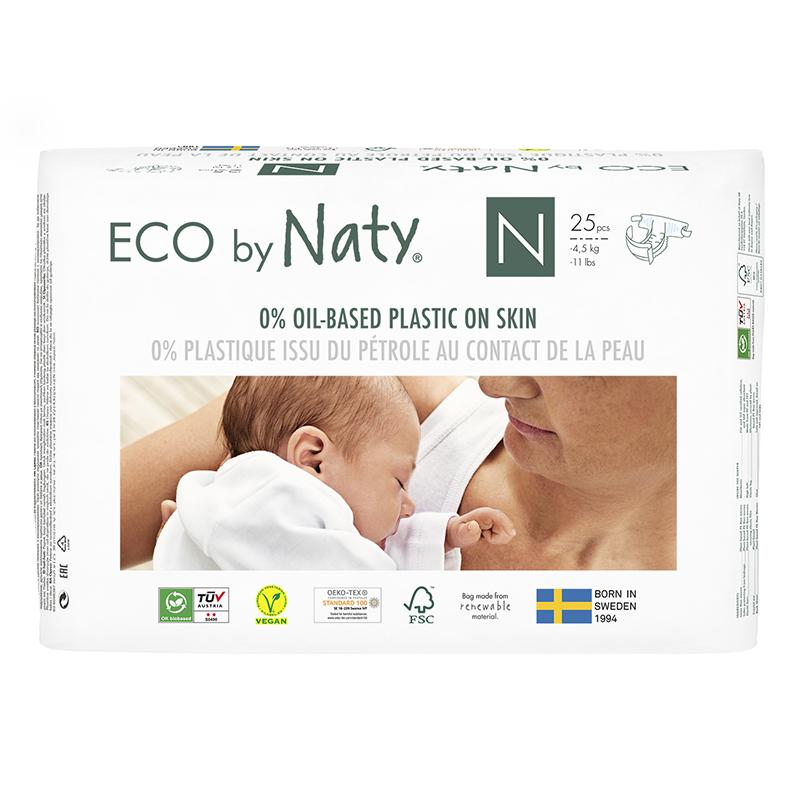 Eco by Naty® Ekološke plenice Newborn 0 (1-4,5 kg) 25 kosov