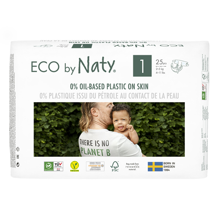 Slika Eco by Naty® Ekološke plenice 1 (2-5 kg) 25 kosov