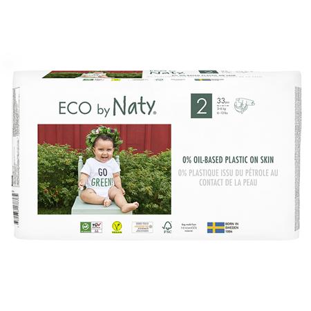 Eco by Naty® Ekološke plenice 2 (3-6 kg) 33 kosov