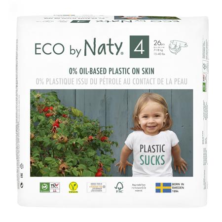 Slika Eco by Naty® Ekološke plenice 4 (7-18 kg) 26 kosov