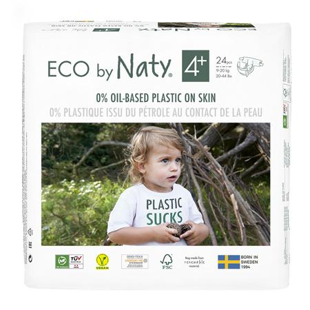 Slika Eco by Naty® Ekološke plenice 4+ (9-20 kg) 24 kosov
