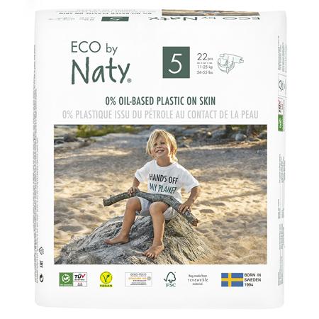 Slika Eco by Naty® Ekološke plenice 5 (11-25 kg) 22 kosov