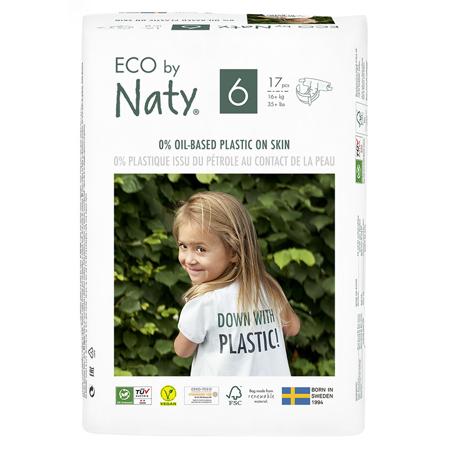 Slika Eco by Naty® Ekološke plenice 6 (16+ kg) 17 kosov