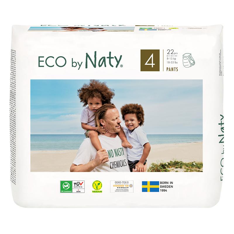 Eco by Naty® Hlačne plenice 4 (8-15 kg) 22 kosov