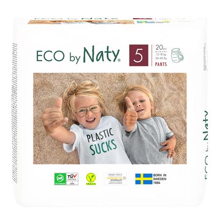 Slika Eco by Naty® Hlačne plenice 5 (12-18 kg) 20 kosov