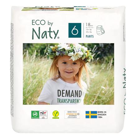 Slika Eco by Naty® Hlačne plenice 6 (16+ kg) 18 kosov