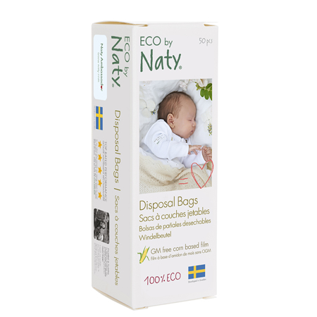 Eco by Naty® Razgradljiva vrečka za plenice 50kosov